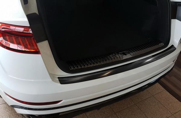 Ladekantenschutz Edelstahl schwarz satiniert für Audi Q8 4M #10620