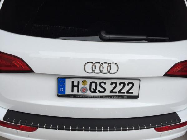 Ladekantenschutz Alu Mix schwarz mit Abkantung für Audi Q5 #10071_1