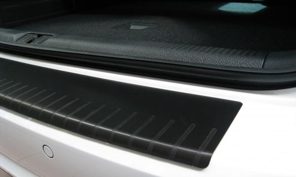 Ladekantenschutz mit Abkantung Alu ELOX für VW Golf 6 schwarz matt