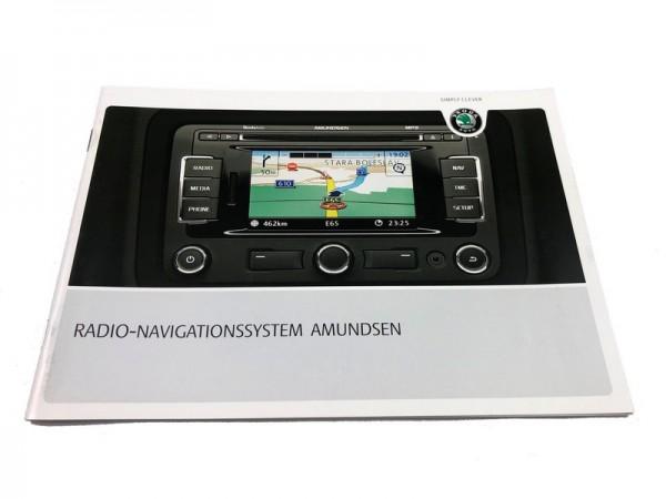 Bedienungsanleitung Skoda Amundsen Radio-Navigationssystem 3T0012149CA