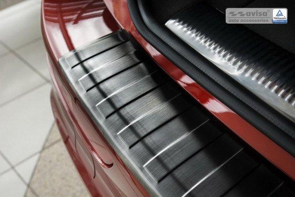 Ladekantenschutz Edelstahl schwarz satiniert für Audi Q5 8R #10626