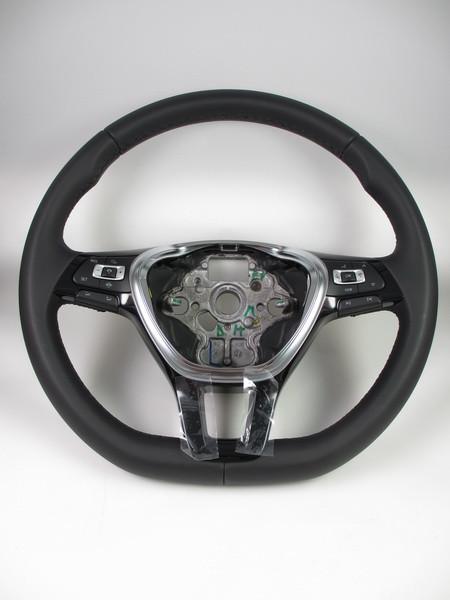 VW Golf 7 Leder Lenkrad Multifunktion Tiptronic schwarz 5G0419091BHE74 SW10232