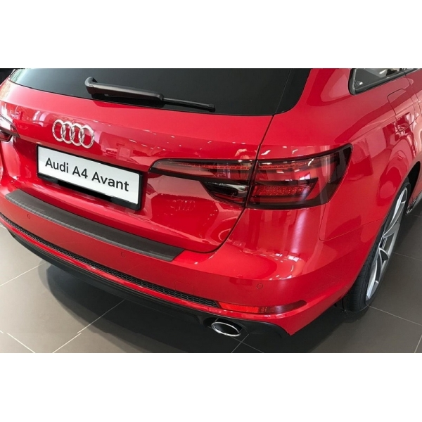 Ladekantenschutz mit Abkantung Alu ELOX für Audi A4 Avant B9/ 8W Kombi ab 2015 Alu Eloxal sc