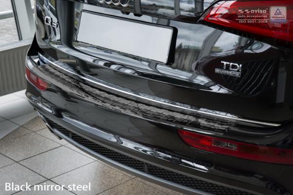 Ladekantenschutz Edelstahl schwarz hochglanz für Audi Q5 8R #10619