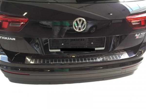 Edelstahl Ladekantenschutz / Stoßstangenabdeckung für VW Tiguan 2. Generation ab 2016 #10095_1