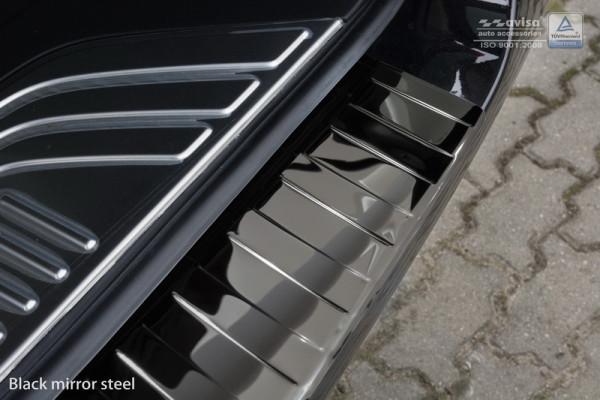 Ladekantenschutz Edelstahl schwarz hochglanz für Mercedes V-Klasse W447/ Vito 3. #10611