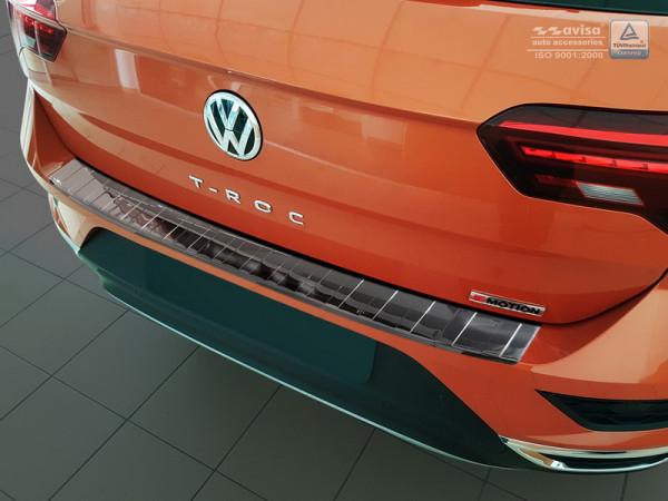 Ladekantenschutz Edelstahl schwarz hochglanz für VW T-ROC #10609