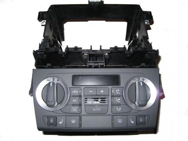 Audi A3 8P0 Klimabetätigung RNSE RNS-E mit Rahmen SET 2-DIN 8P0820043BH XHA (Gebraucht)