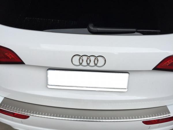 Ladekantenschutz mit Abkantung Alu INOX für Audi Q5 Schliffoptik #10071-IN