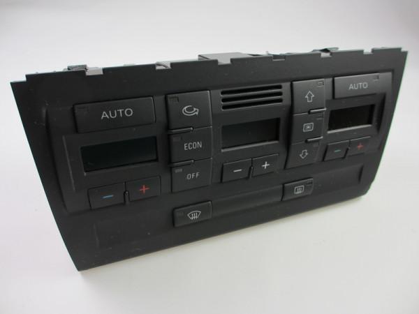 Audi A4 B6 Klimabetätigung/ Klimavollautomat ohne Sitzheizungsregler Frontseitig 8E0820043AJ