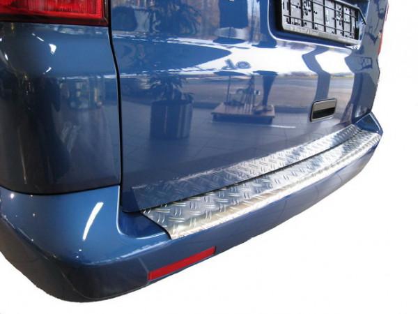 Ladekantenschutz Alu Riffel mit Abkantung für VW T5/ Multivan Caravelle