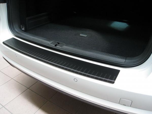 Ladekantenschutz mit Abkantung Alu ELOX für VW T6/ T6.1 mit Heckklappe schwarz matt #10015_