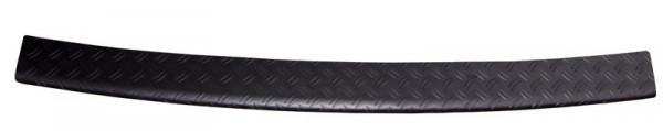 Ladekantenschutz mit Abkantung Alu Riffel matt schwarz eloxiert für VW T6 T6.1 mit Heckklapp