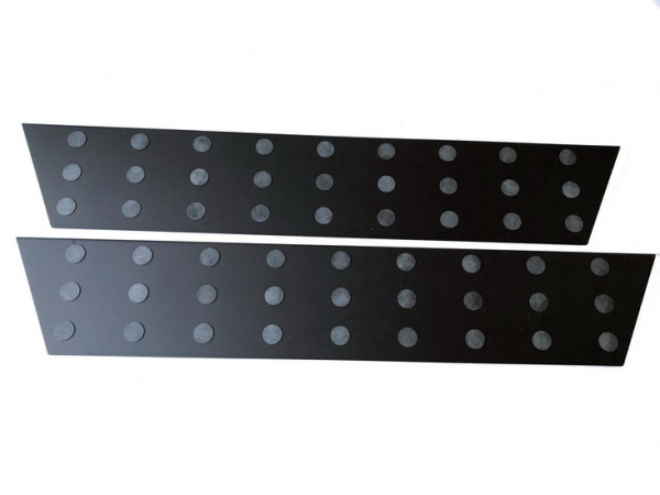 Alu Elox schwarz Trittbretter/ Einstiegsleisten für VW T5/ T6/ T6.1 Multivan 4-teilig #10144BK