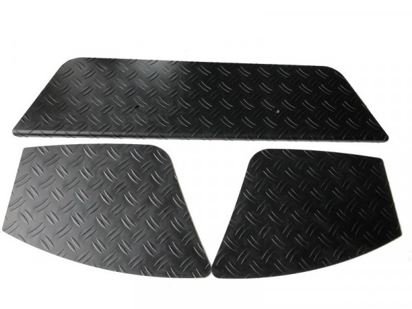 Ladekantenschutz/ Trittbretter Alu Riffel mit Abkantung für VW Amarok #10603