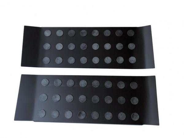 Alu Elox schwarz Trittbretter/ Einstiegsleisten für VW T5/ T6/ T6.1 Multivan 3-teilig #10602BK
